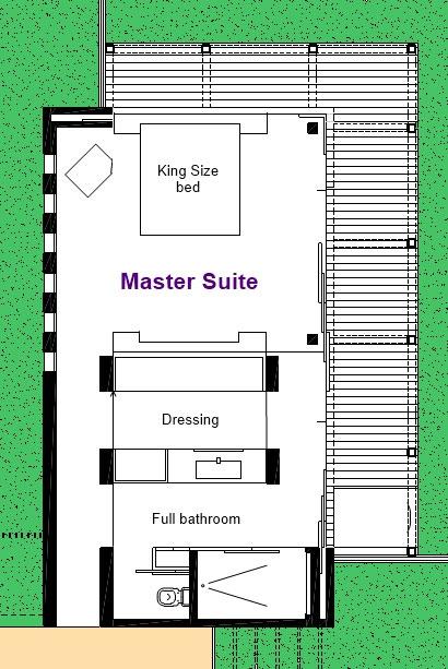 Villa Sofia -Floorplans – Master Suite – Floorplan