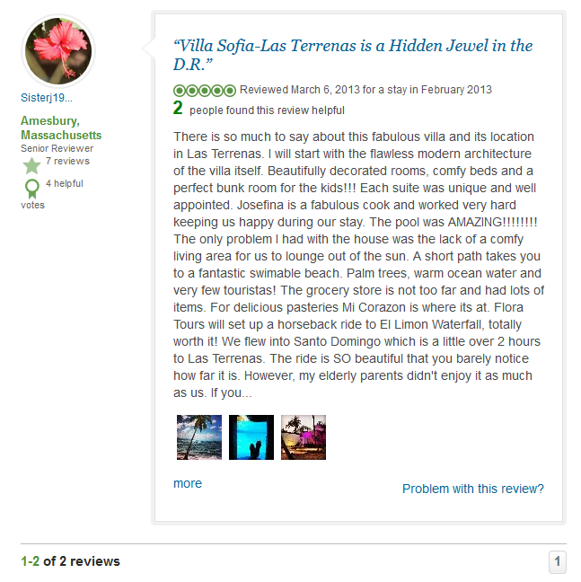 Villa Sofia- Guest Reviews On Internet – Tripadvisor 2