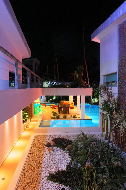 Villa Sofia – Night & Fire – Garden/Courtyard/Pool/Dining Area