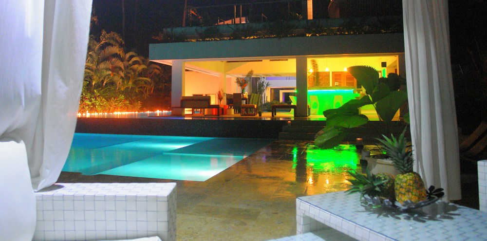 Villa Sofia – Outdoor Space At Night