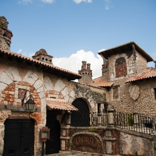 Medieval style buildings in Altos de Chavón. Casa de Campo, La