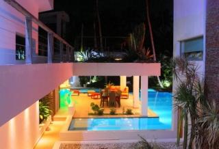 Villa Sofia – Night & Fire – Garden/Courtyard/Pool/Dining Area